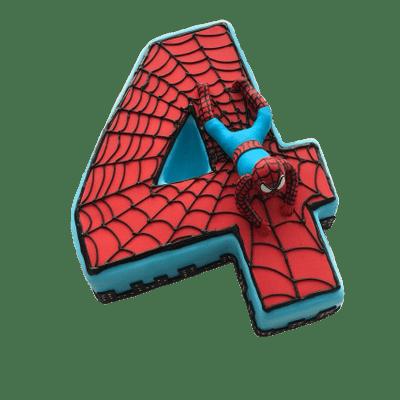 Spiderman Number 4 Cake Spiderman Png Images Image