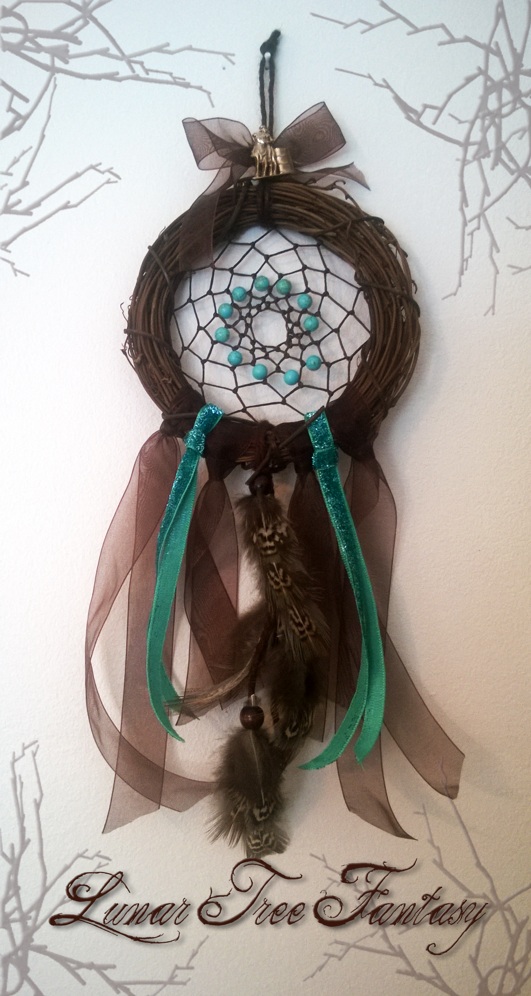 Dream Catcher I made for my dear sister. Not Available.