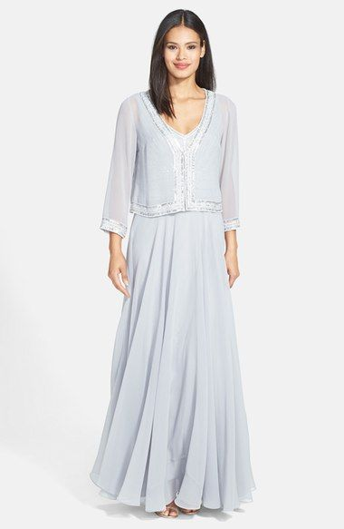 a35b8e23da J Kara Embellished Woven Gown   Jacket available at  Nordstrom ...