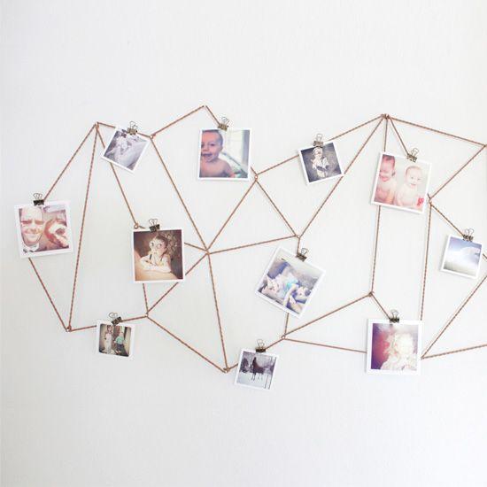 A fun creative way to display your Instagram photos.  Interior Piece  Pinterest