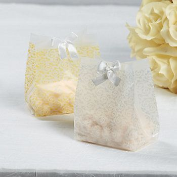 Frosted Gold Wedding Favor Bags Jamies Wedding Pinterest Gold