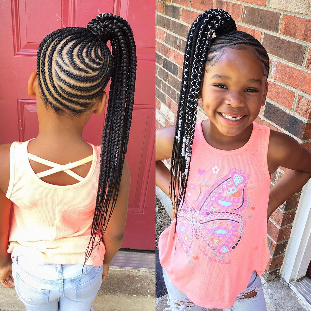 Adorable Back To School Baby Hairstyles For Your Little Girls Braids For Kids Kids Braided Hairstyles Kid Braid Styles