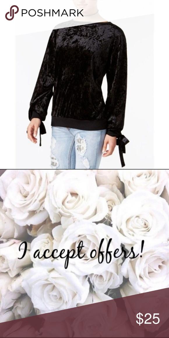 Gypsies /& Moondust Juniors Velvet Sweatshirt