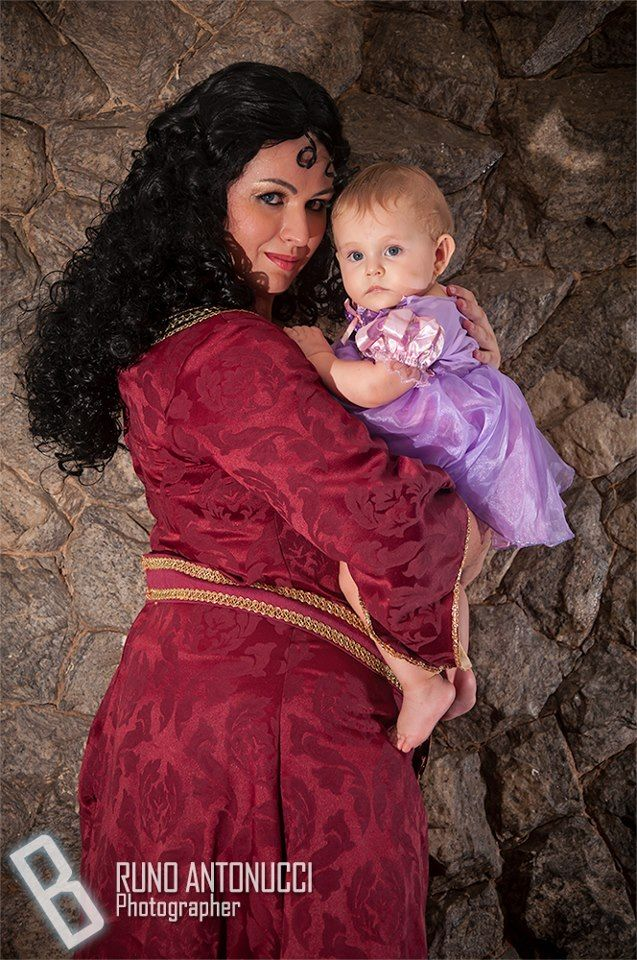 Myself as Mother Gothel and my little daughter as baby Rapunzel. Gothel costume wig accessories and make up made by me  sc 1 st  Pinterest & Mother knows best by yunekris.deviantart.com on @deviantART | Fandom ...