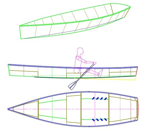 Rowing Skiff - Simple, Fast, Pretty Utility Rowboat - Michael Storer Boat Design | boats ...