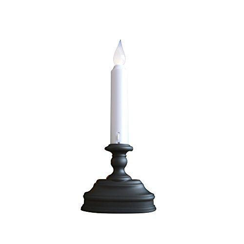 Flameless Window Candle with Sensor White LED Flame Antique Vintage Decor Battery Operated Auto Sensor White Candle with Aged Bronze Base Batteries Included Bronze and White 2 Pack *** Visit the image link more details.