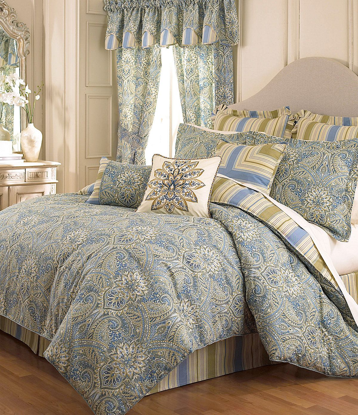 Waverly Swept Away Bedding Collection Dillards Com Blue Curtains Bedroom Colors Home
