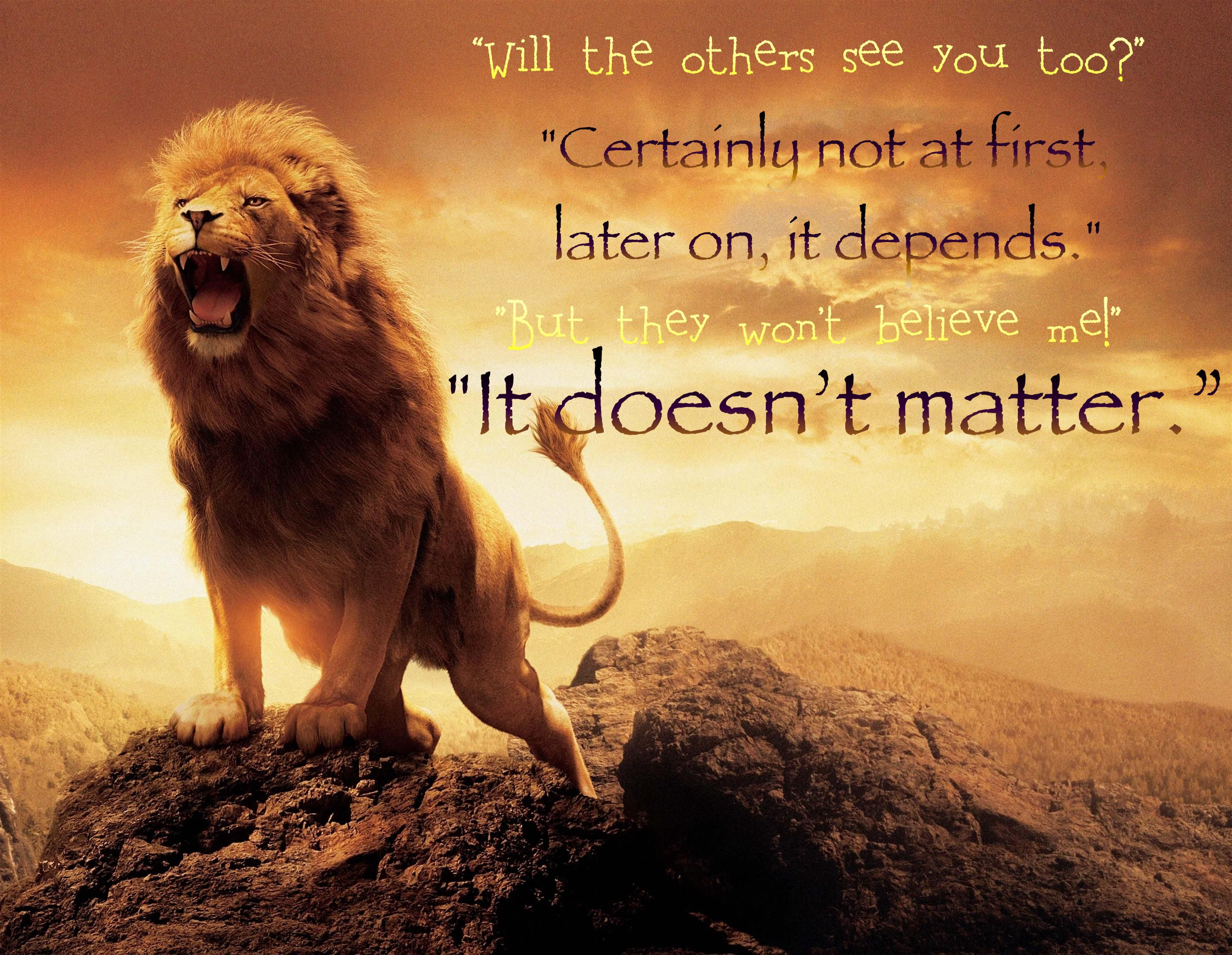 Aslan puts Lucy to the test of faith. | Quotes, verses, and think ... for Narnia Movie Quotes  104xkb