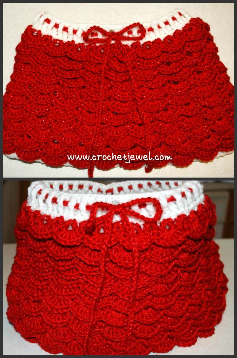 Crochet Ruffle Skirt « The Yarn Box The Yarn Box   Crochet Clothing ...