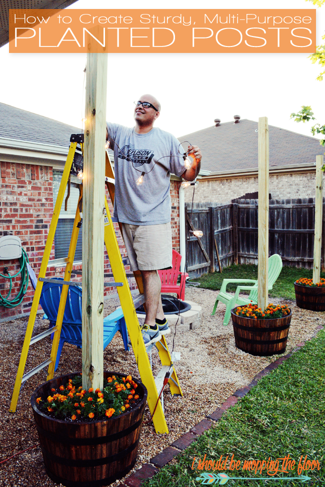Diy Sturdy Planted Posts Bloggers Best Home Tips And Tricks