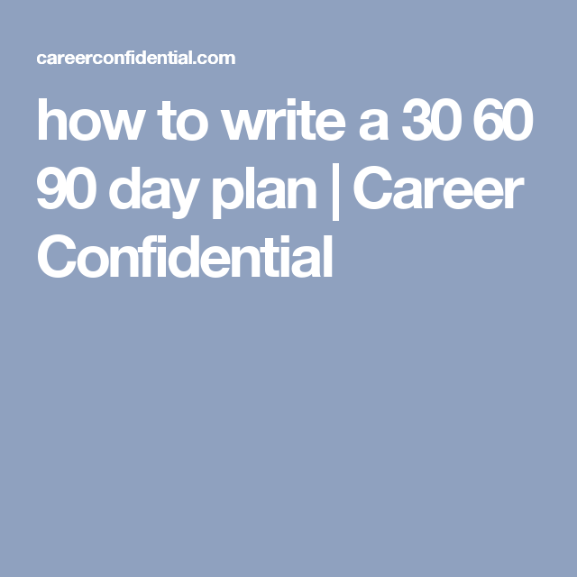 How To Write A    Day Plan  Career Confidential  New