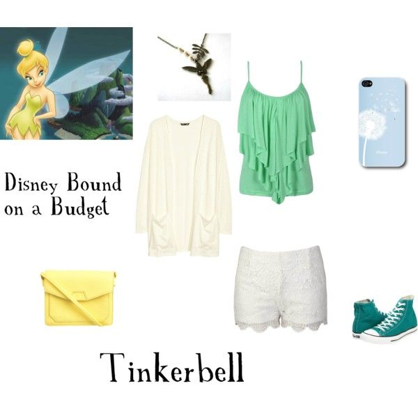 Tinkerbell- Disney Bound on a Budget by disney-lionking on Polyvore featuring H&M, Converse and Ezra