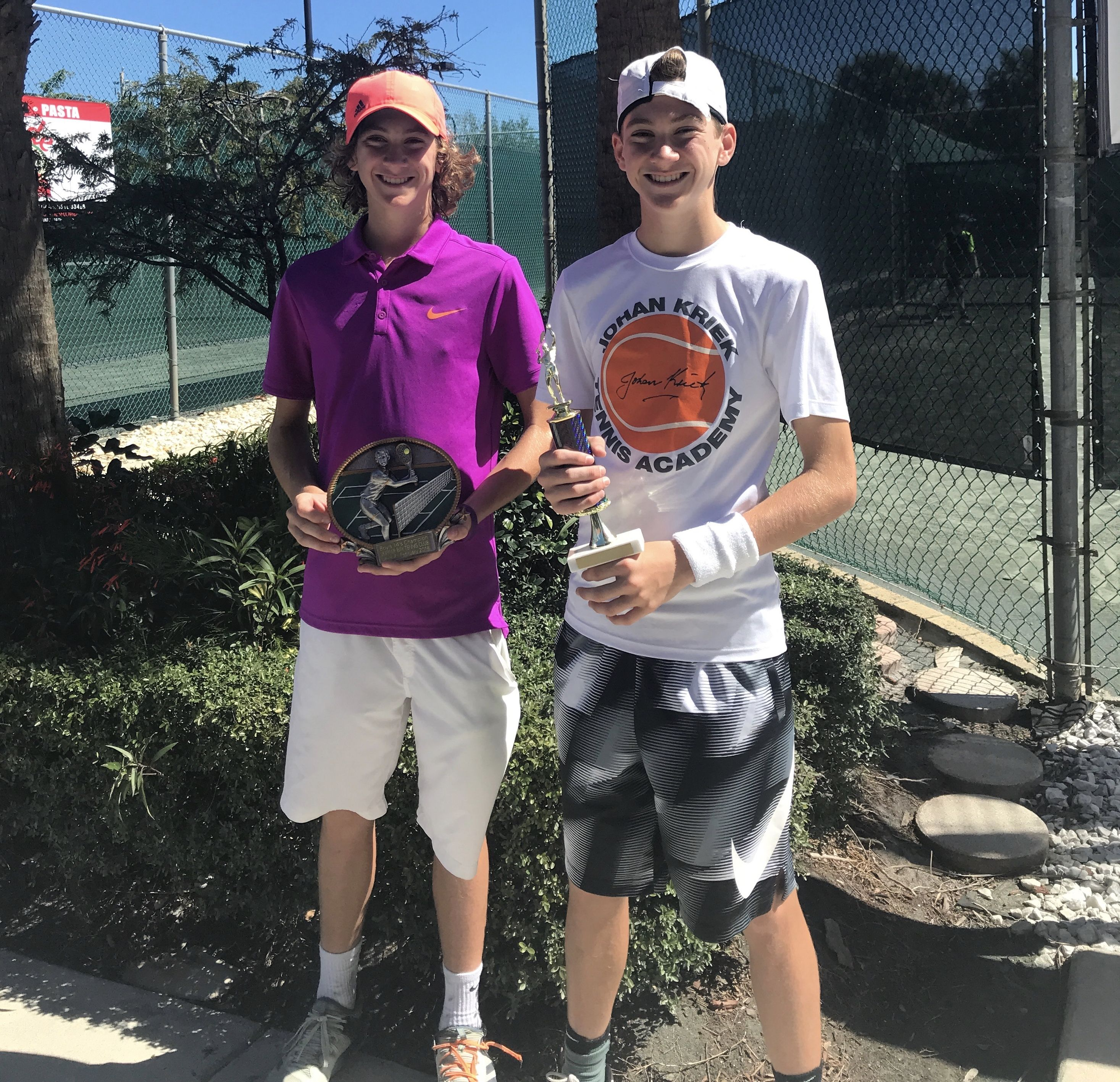 More Great News From The Jupiter Bay Tennis Club Junior Tournament Way To Go Gregory Twins Shepard Gregory Wins The Boys 1 Tennis Clubs Twin Brothers Elite