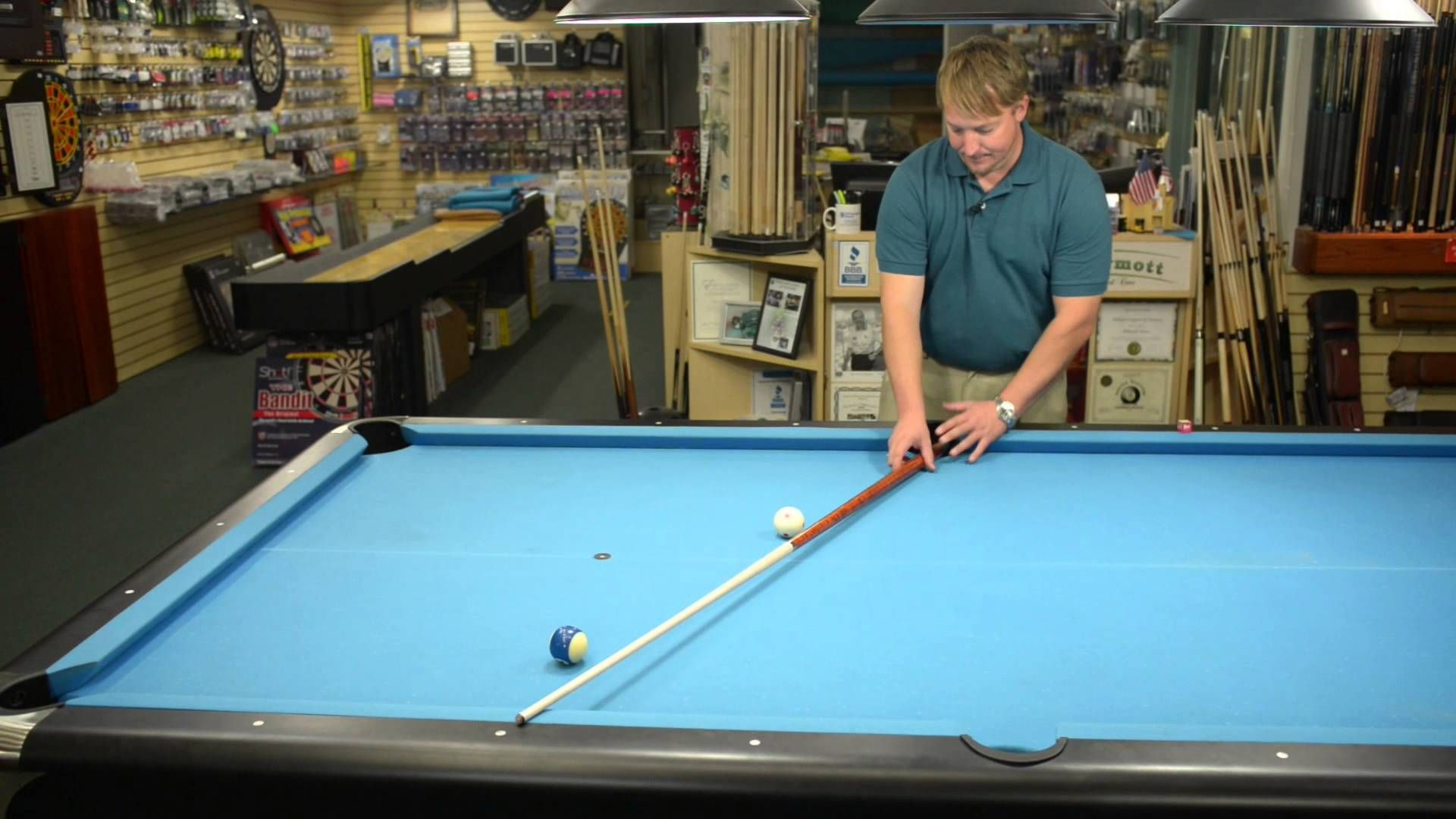 an easy way to shoot bank shots in billiards and pool billiards