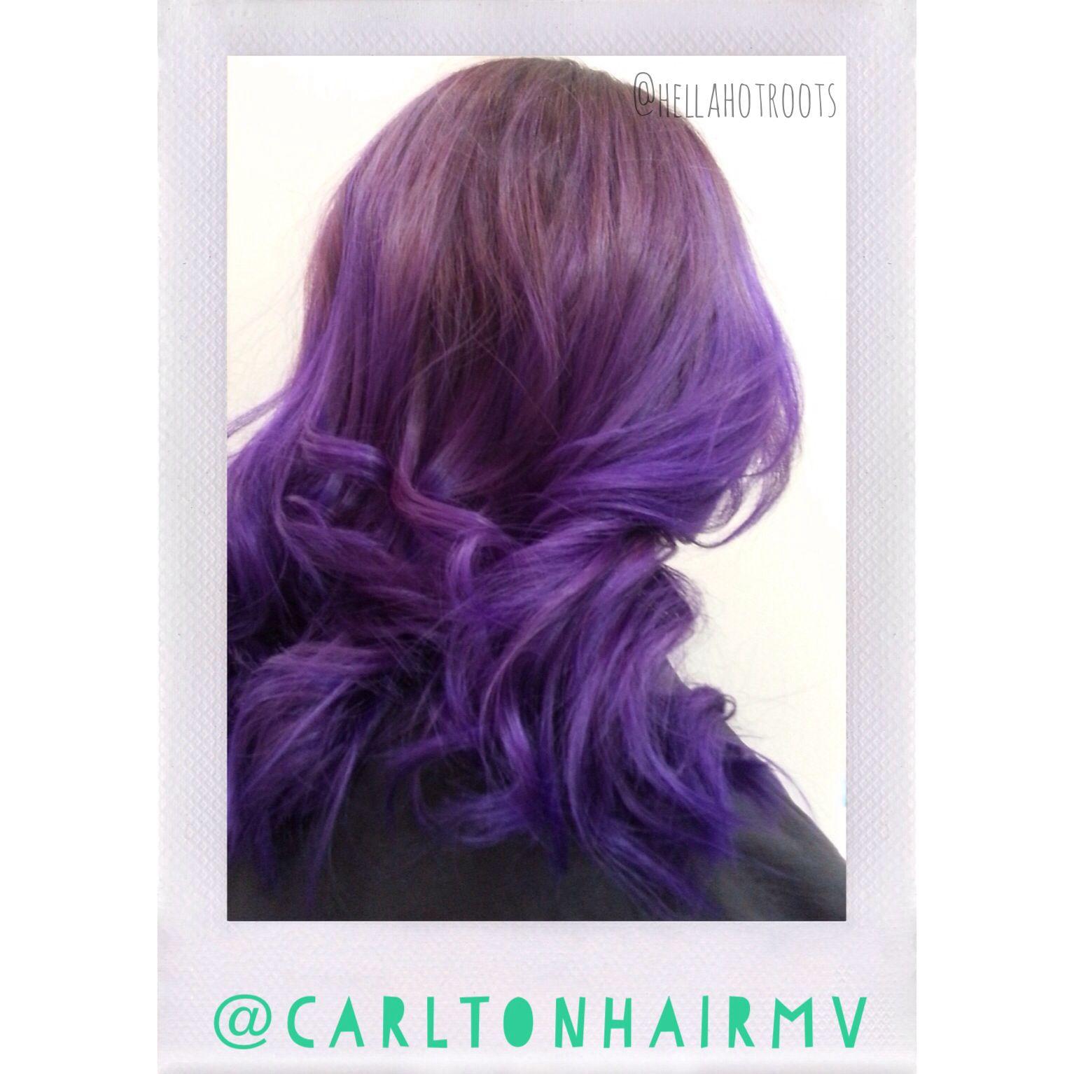 #purps #purpleombre | by Sr. Stylist & Master Educator, Megan, fr: Carlton Hair Mission Viejo | 949-365-1777