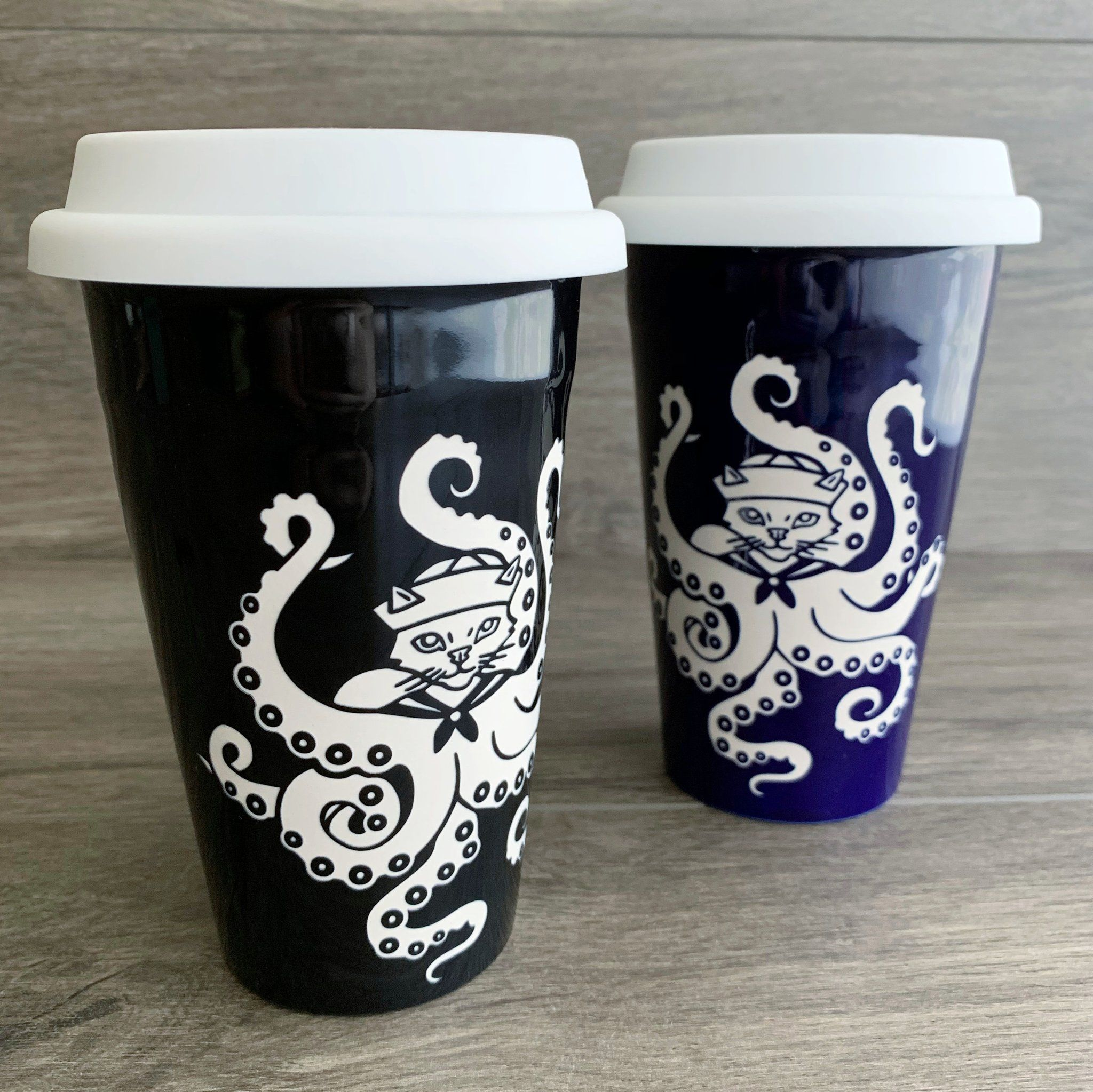 Octopus Cat Travel Mug Octopus Cat Travel Mug  Bread and Badger