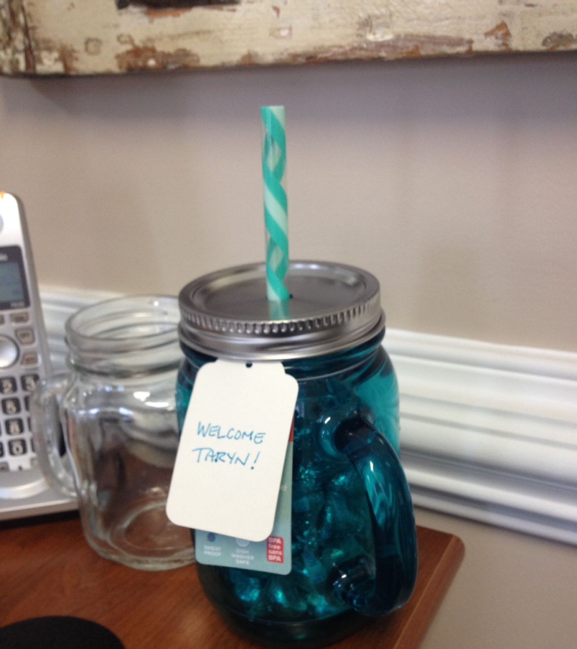 new employees is fun with mason jars!
