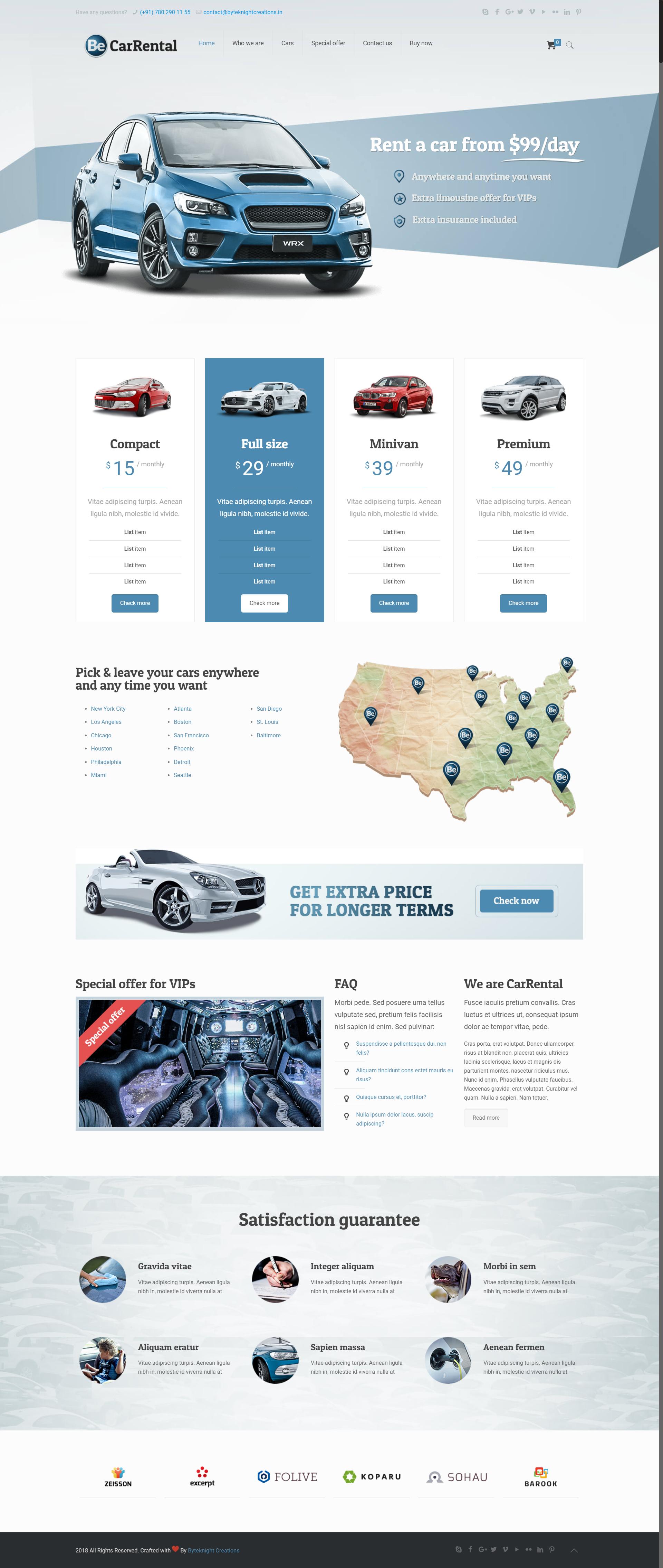 Car Rental Websites >> Web Design Themes Templates Car Rental Website Design