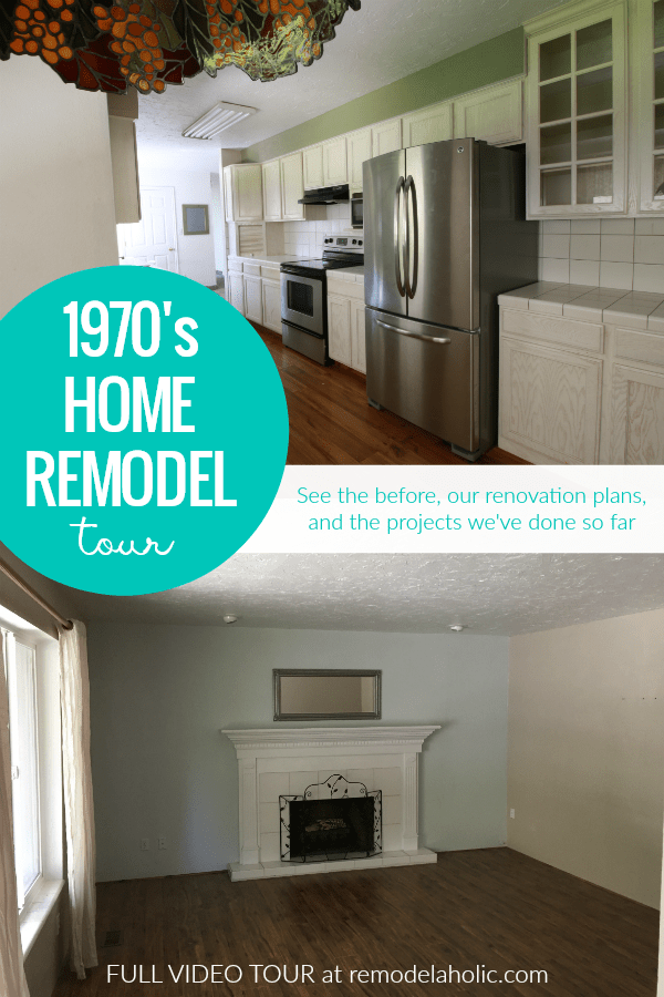 This 1970 S Home Renovation Shows The Before Our Plans For Renovating And What We Ve Done So Far In This Home Rem Home Remodeling House Tours Home Renovation