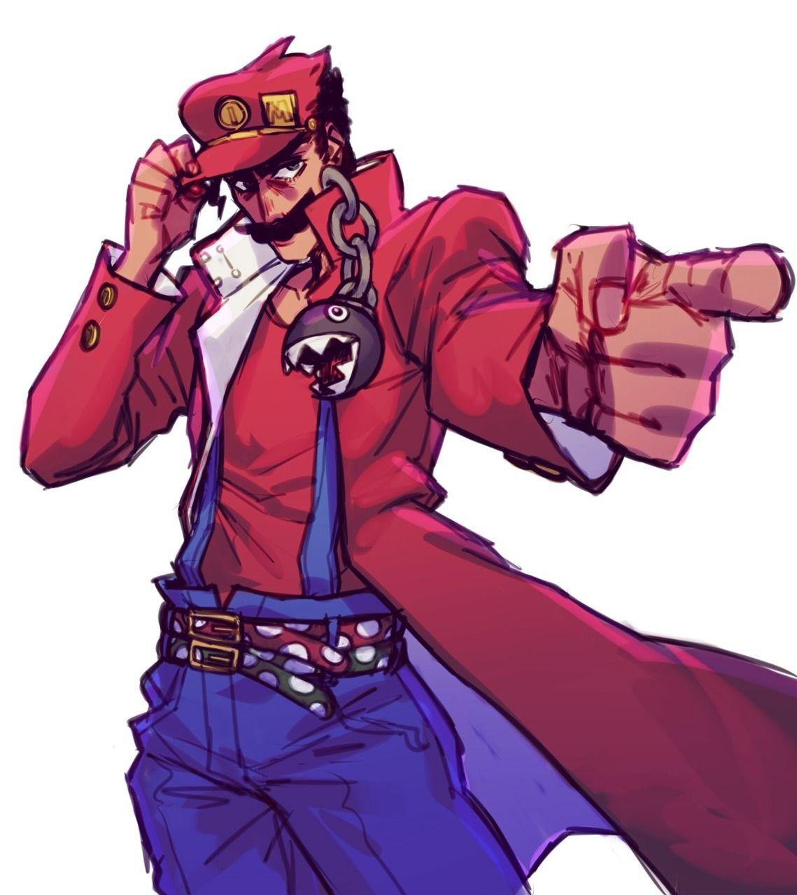 Mario Mario S Bizarre Adventure Stardust Plumbers Jojo Anime Jojo Bizarre Jojo S Bizarre Adventure