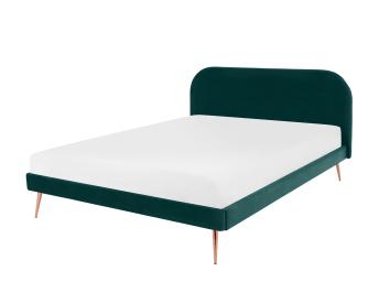 Eulia Polsterbett 180 X 200 Cm Samt In Nachtgrau Bett Mobel