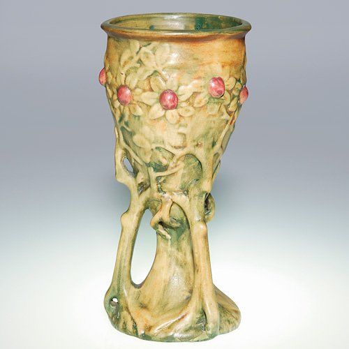 Weller Vases 83 Weller Woodcraft 9 18 Vase Chalice Shape