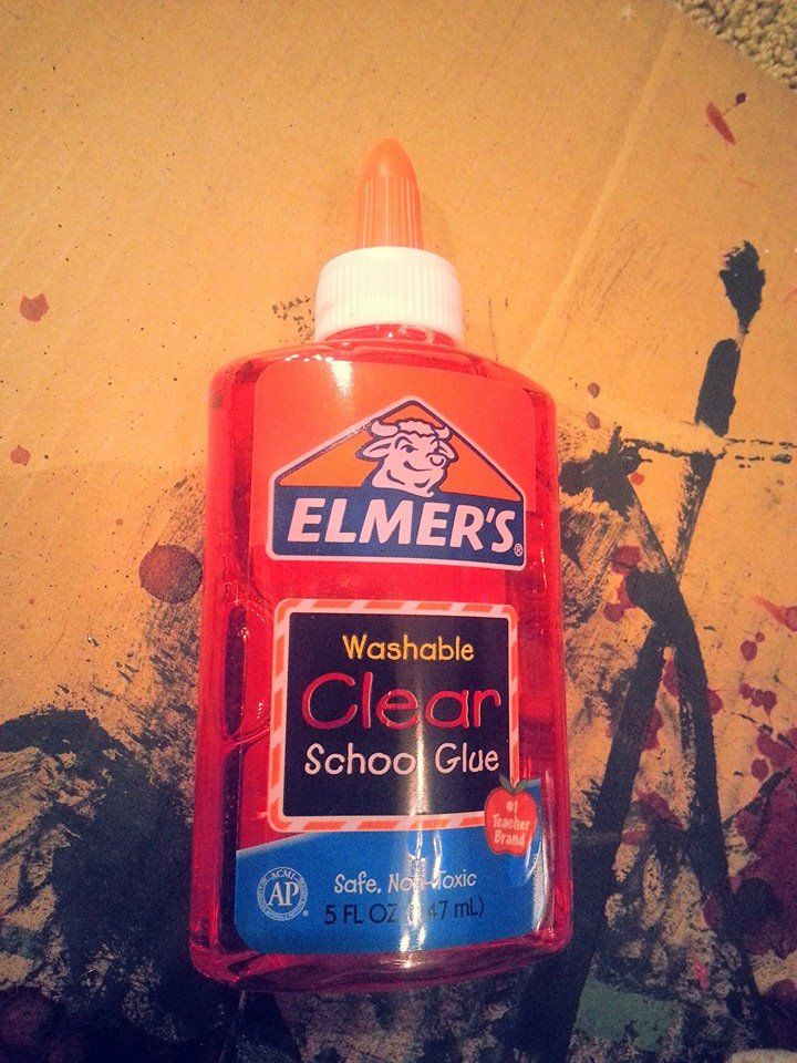 Clear Elmer\'s School Glue with some red food coloring makes wet ...