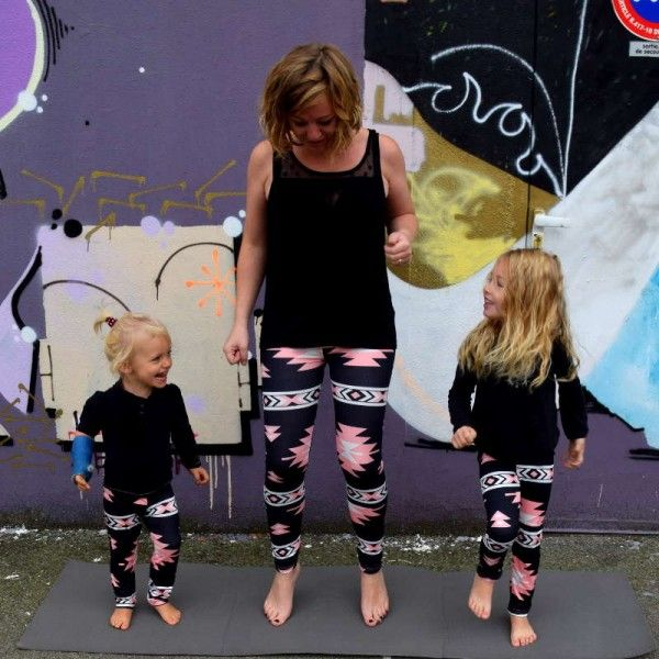 Tendance mère fille maman bébé legging sport   Legging sport