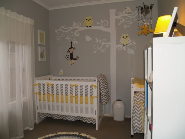 All Ready For Our Little One Grey And Yellow Nursery