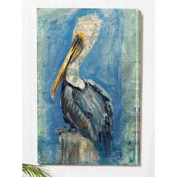 Brown Pelican Wall Canvas Art | I want one! | Pinterest | Wall ...