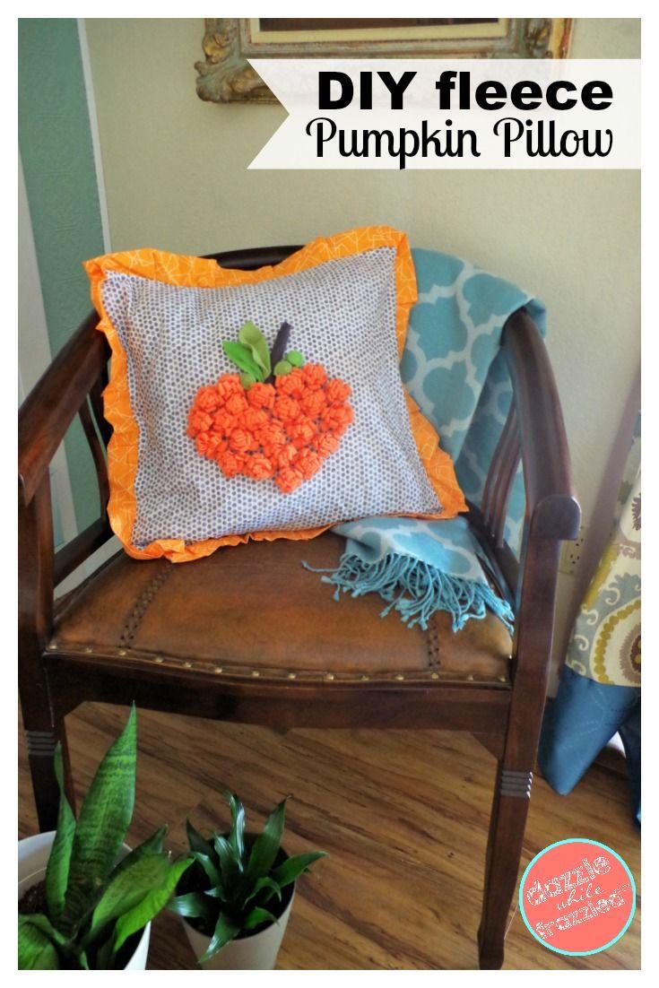 Make an Autumn Pillow Cover with Cute Fleece Pumpkin | Pumpkin ...