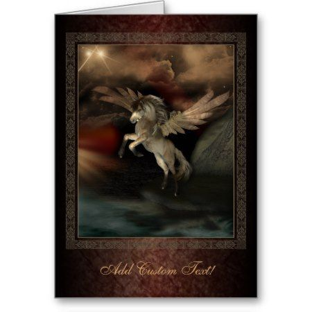 Pegasus fantasy art greetings card pegasus pinterest pegasus pegasus fantasy art greetings card in ancient greek mythology pegasus was a devine winged horse in my digital painting he rears with his wings m4hsunfo