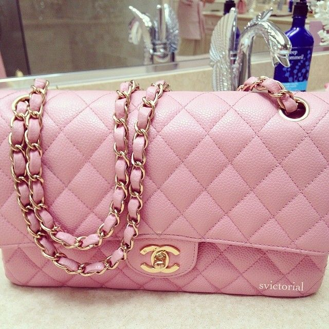 8d4f1aa2 Chanel classic flap in Baby Pink :) Cutieeeee | Handbags in 2019 ...