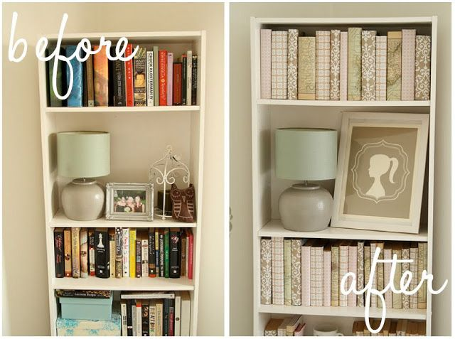Decorating a Bookcase in Monochromatic papers. (Hint: only the ...