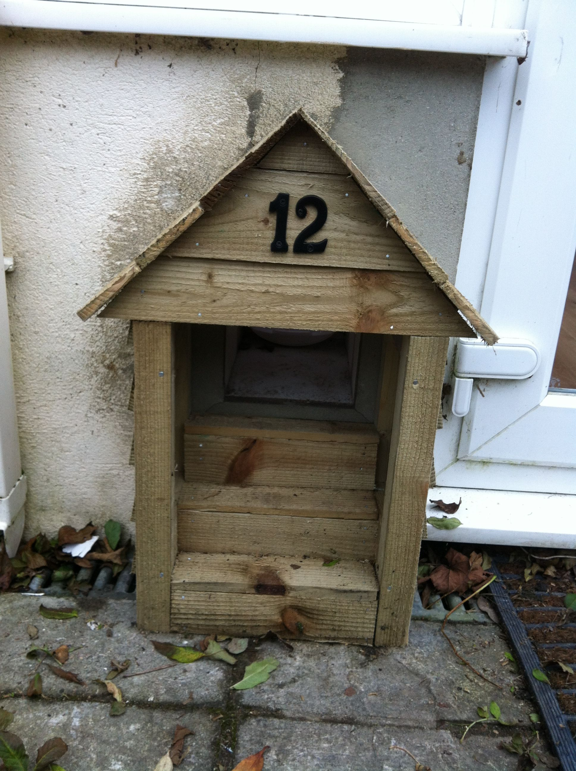 Cat Flap Porch Dog Houses Exterior Design House Exterior