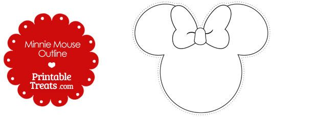 Printable Minnie Mouse Outline Minnie Mouse Outline Minnie Mouse Printables Minnie Mouse Printables Free