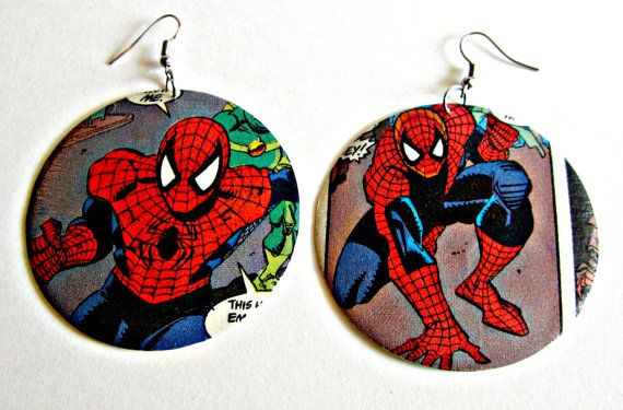 The Original Upcycled Vintage Comic Book Earrings by Customcomix