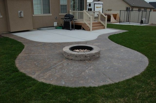 Creative Of Concrete Patio Ideas With Fire Pit Inspired Best Designs How