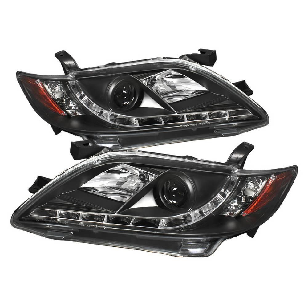For 2007 2008 2009 Toyota Camry Chrome Projector Headlights Replacement Lamps