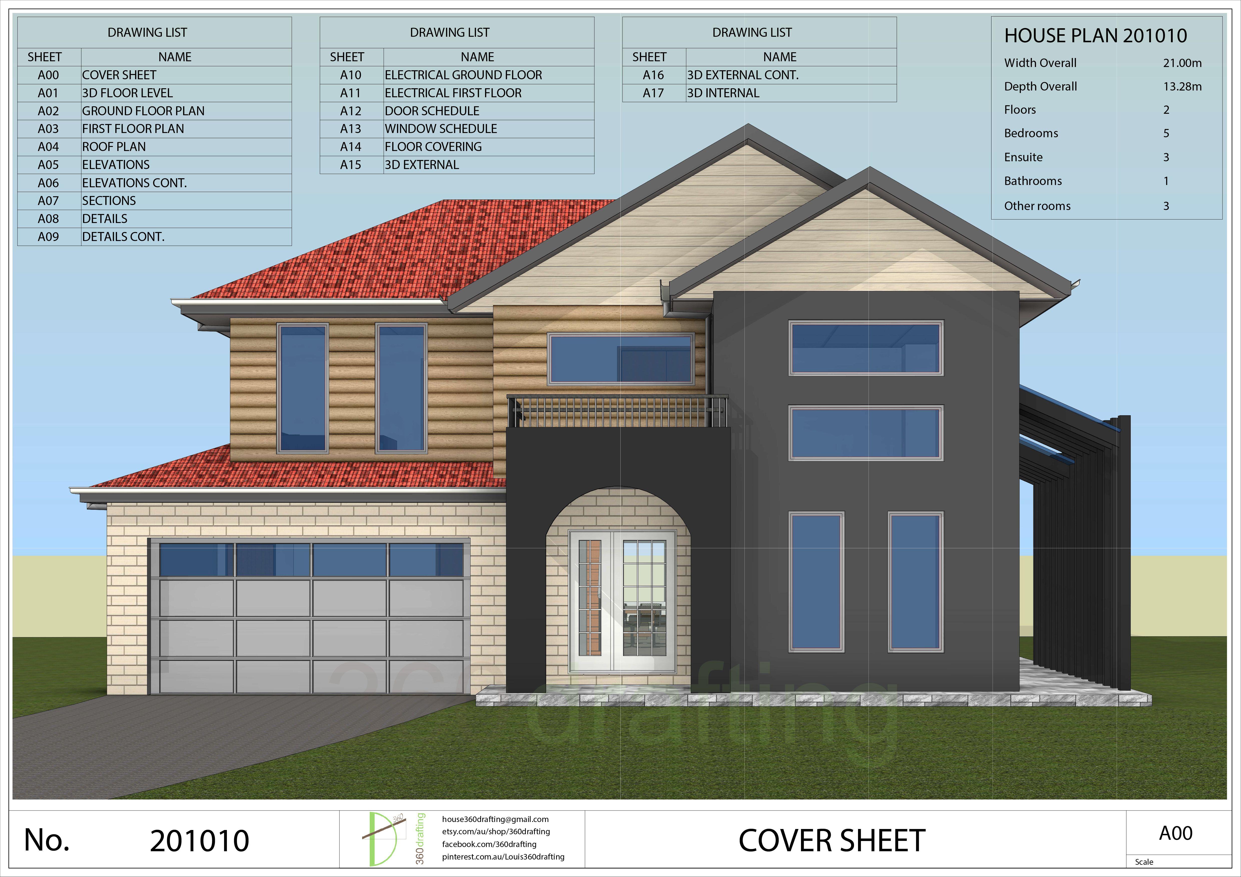 HOUSE PLAN 5 bedrooms bathrooms pdf floor plan instant CUSTOM plans service