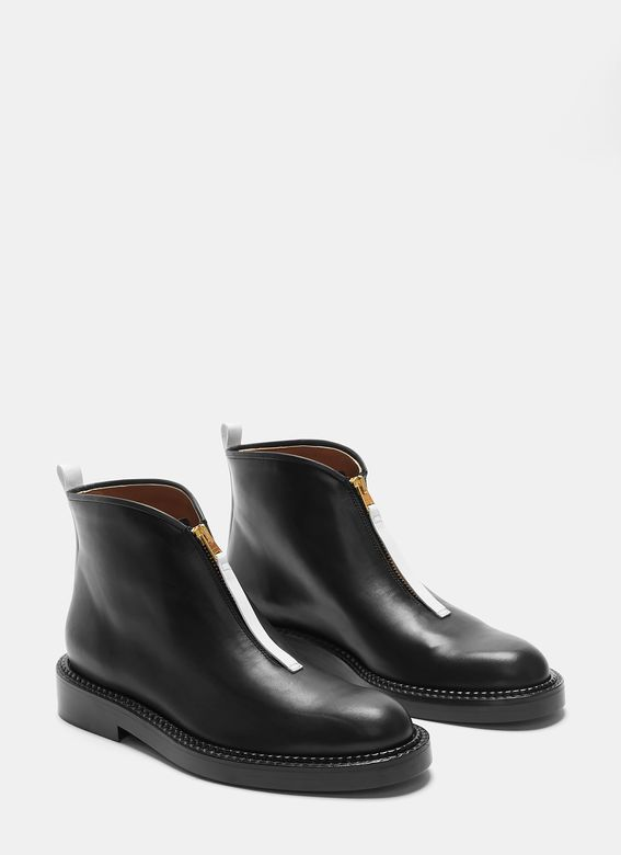 7951fa9364 Marni Contrast Fixed Zip Ankle Boots