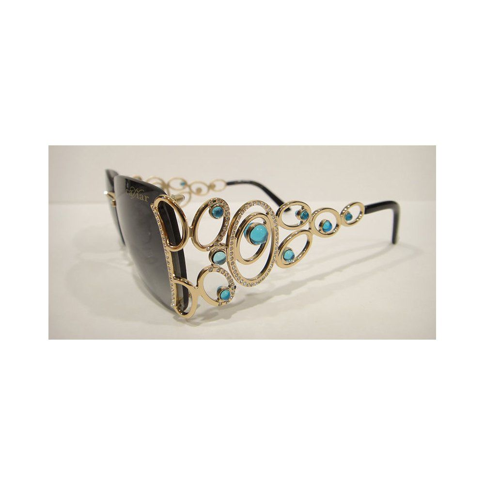 Caviar 6849 Sunglasses Gold (C55) Crystal Stones Authentic New ...