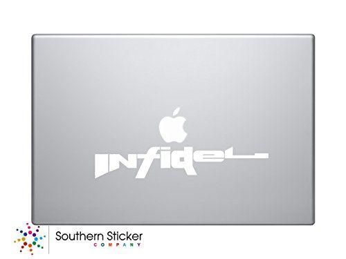 Infidel Gun Spelled Out Text Symbol Vinyl Keypad Trackpad Sticker