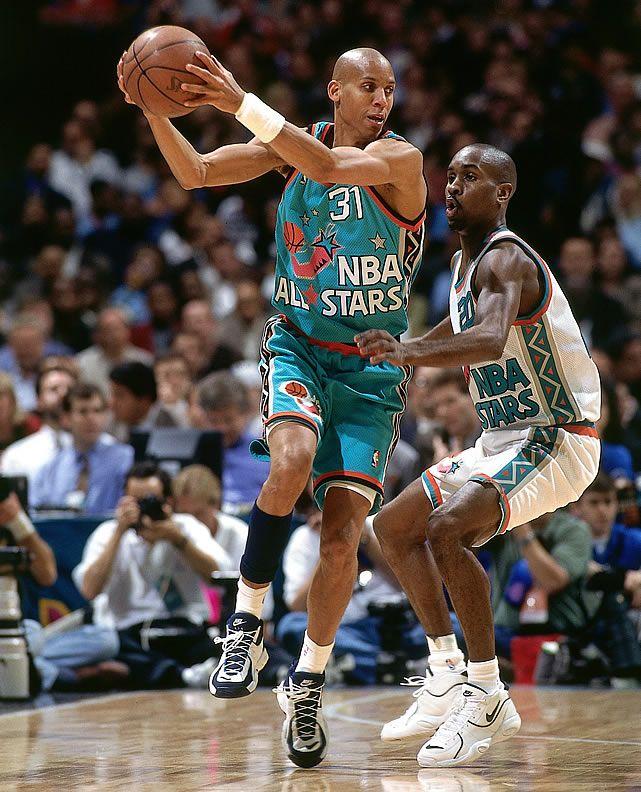 reggie miller gary payton nba allstar game basketball