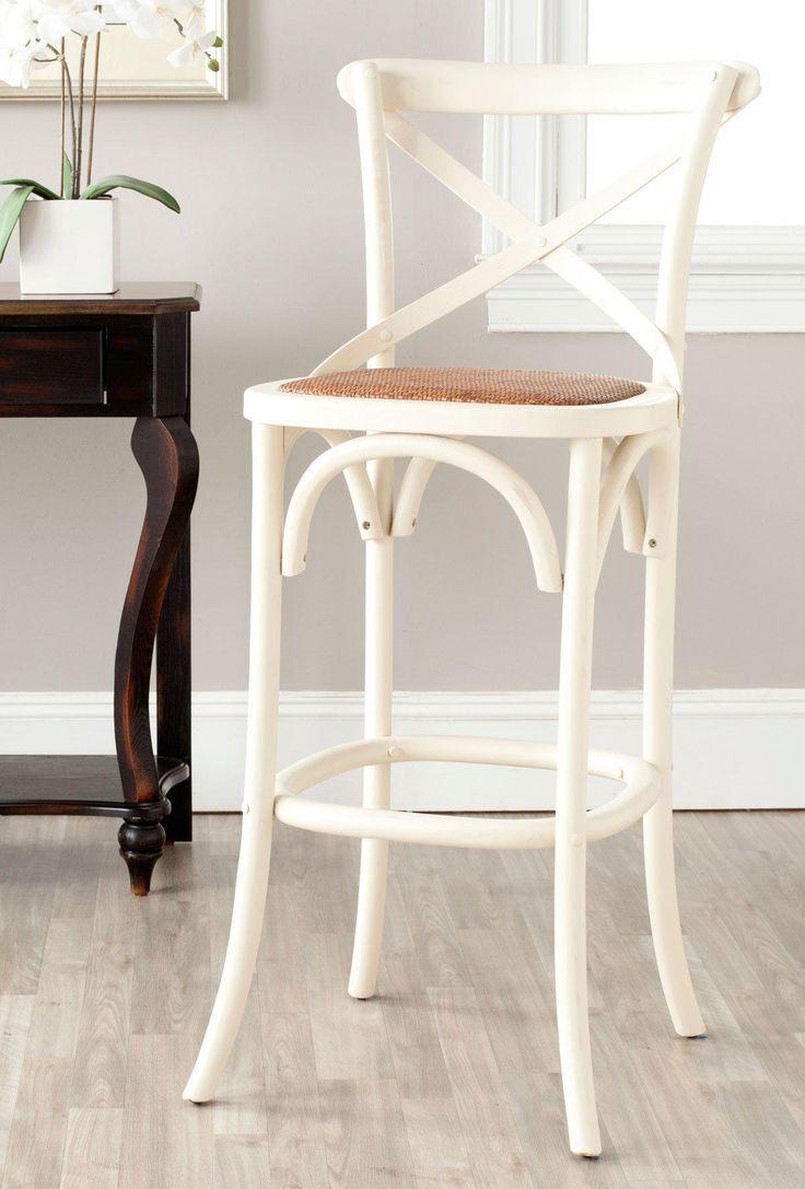 eleanor x back bar stool ivory  oak bar stools bar