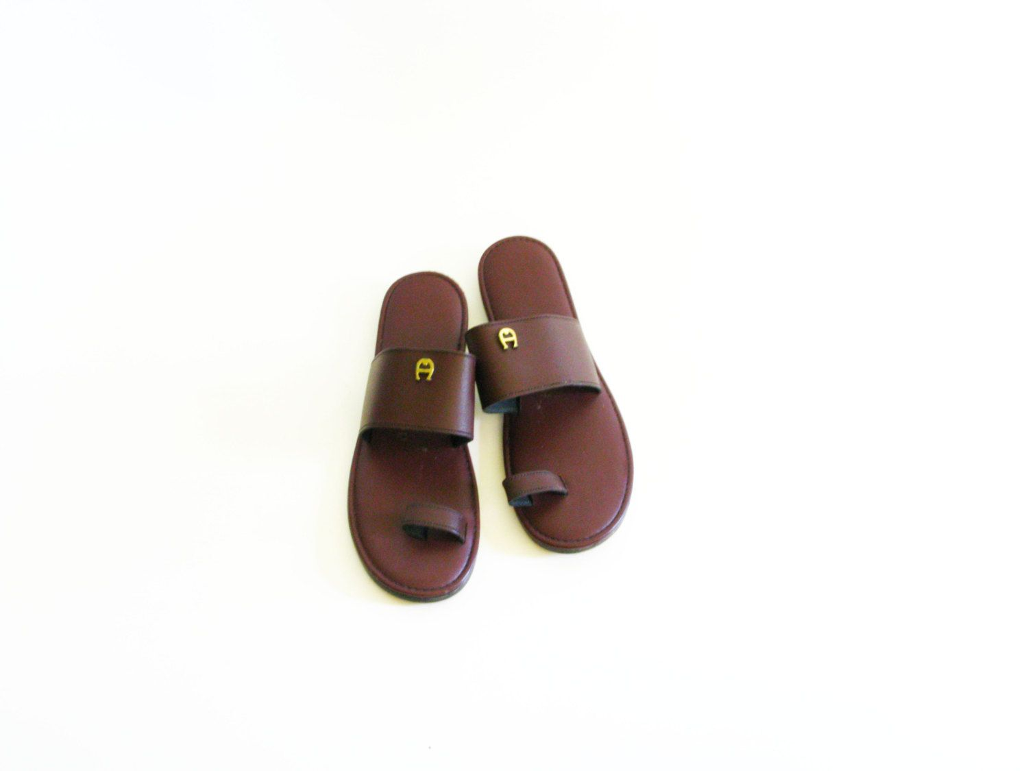 620abd38cc60 Vintage Etienne Aigner Leather Sandals...id wear these still today....felt  like clouds under your feet! -m3