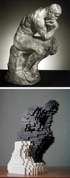 "Lego Art ""The Thinker"""