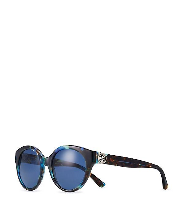 62d000d898ec Reva Painted-Logo Round Sunglasses (Blue Brown Tort) | Accessorize ...