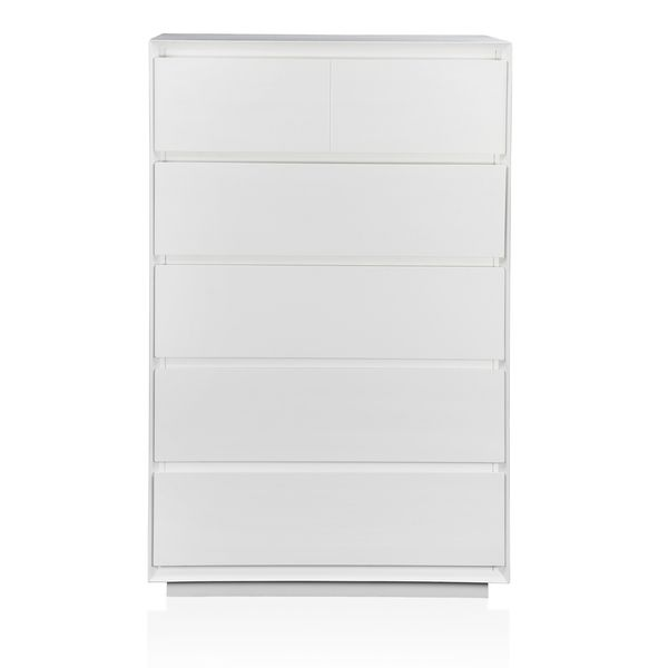 Furniture of America Cheshire Modern White 5-drawer Chest - Overstock Shopping - Great Deals on Furniture of America Dressers