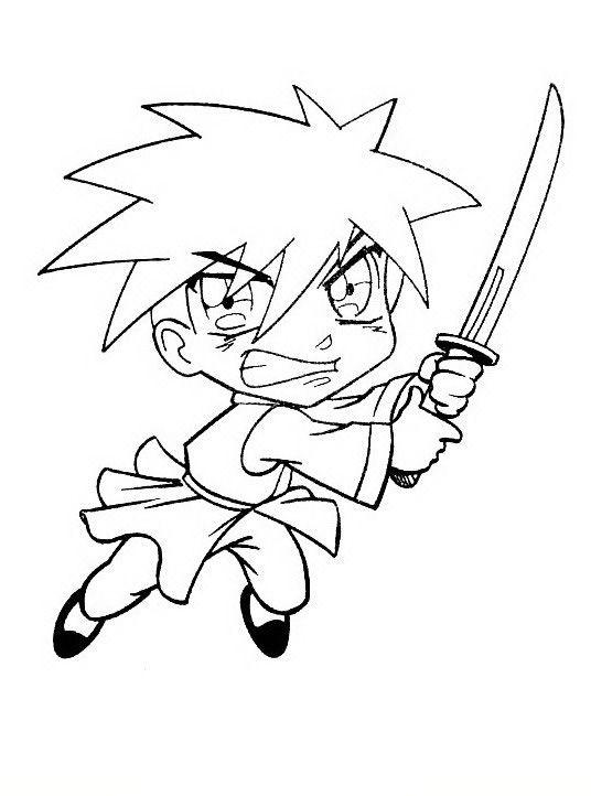 Manga Ausmalbilder Malvorlagen Zeichnung Druckbare Nº 20